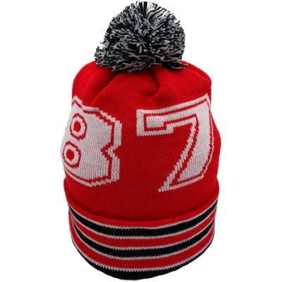 1878 Red Bobble Hat