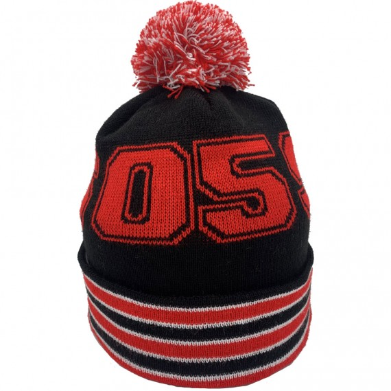 26-05-99 Red, White and Black Bobble Hat