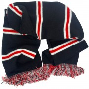 Black, White and Red Bar Scarf