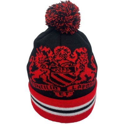 Manchester Coat of Arms Black Bobble Hat