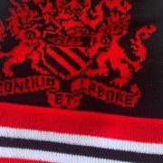 Manchester Coat of Arms Black Bobble Hat