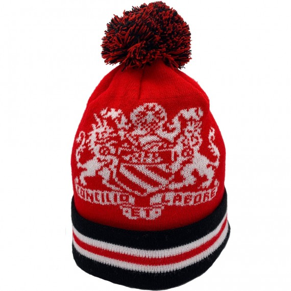 Manchester Coat of Arms Red Bobble Hat