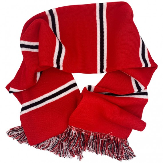 Red, White and Black Bar Scarf