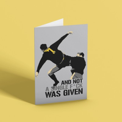 ...And Not A Single F*** Was Given (Censored) Greetings Card
