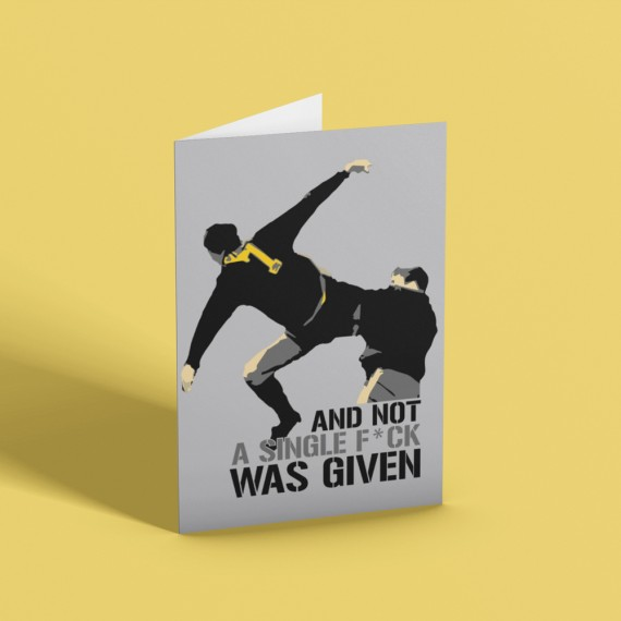 ...And Not A Single F*** Was Given (Censored) Greetings Card T-Shirt