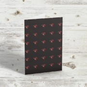 Red Army Bees Greetings Card