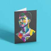 Bryan Robson Colour Block Greetings Card