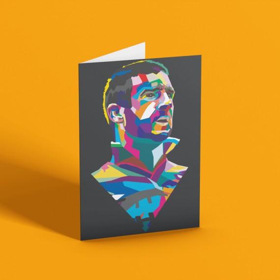 Cantona Colour Block Greetings Card
