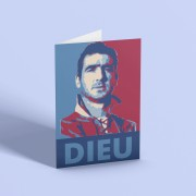 "Eric Cantona ""Dieu"" Greetings Card"