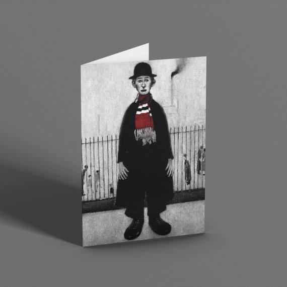 """LS Lowry """"A Lancashire Cotton Worker (With Bar Scarf)"""" Greetings Card T-Shirt"""
