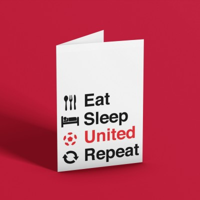 Eat, Sleep, United, Repeat Greetings Card