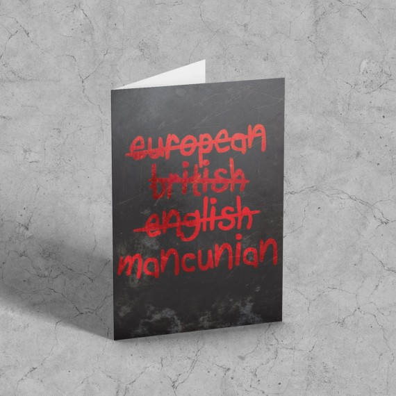 European, British, English, Mancunian Greetings Card T-Shirt