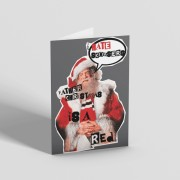 Father Christmas Is A Red Greetings Card