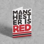 Manchester Is Red Greetings Card