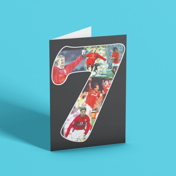 Manchester United Number 7s Greetings Card