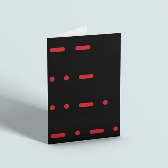 Man United Morse Code Greetings Card