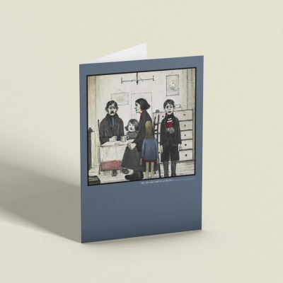 """L.S. Lowry """"My Old Man..."""" Greetings Card"""