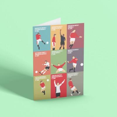 "Ole Gunnar Solskjaer ""9 Moments"" Greetings Card"