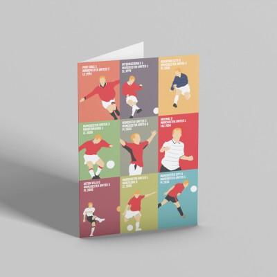 "Paul Scholes ""9 Goals"" Greetings Card"