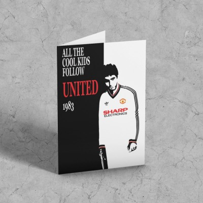 """Scarface """"All The Cool Kids Follow United"""" Greetings Card"""