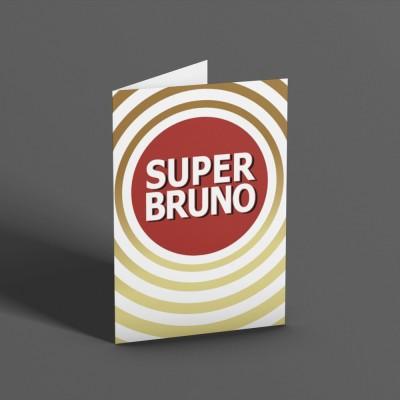 Super Bruno Greetings Card