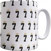Number Seven Crown Pattern Mug