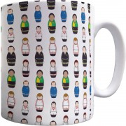 United Away Kit Matryoshka Dolls Pattern Mug