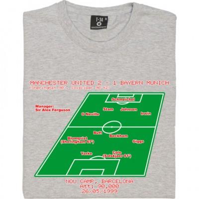 1999 Champions League Final Line-Up T-Shirt