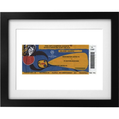 Barcelona Ticket Art Print