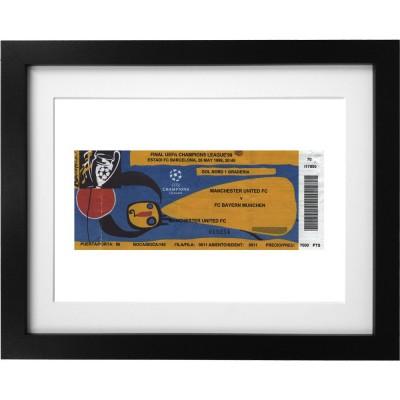 Barcelona Ticket Art Print