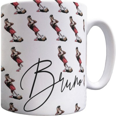Bruno Fernandes Celebration Pattern Mug