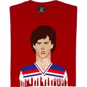 Bryan Robson England Kit Graphic Portrait T-Shirt