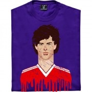Bryan Robson United Kit Graphic Portrait T-Shirt