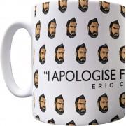 """Eric Cantona """"Apology"""" Pattern Mug"""