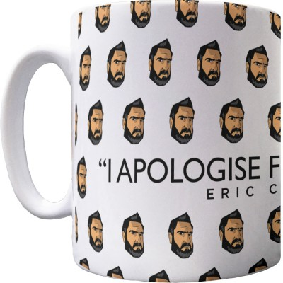 "Eric Cantona ""Apology"" Pattern Mug"