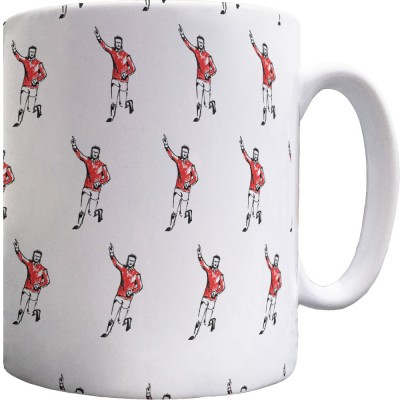 Denis Law Sketch Pattern Mug