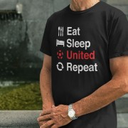 Eat, Sleep, United, Repeat T-Shirt