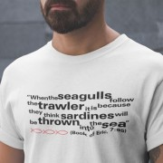 Eric Cantona Seagulls and Sardines Quote T-Shirt
