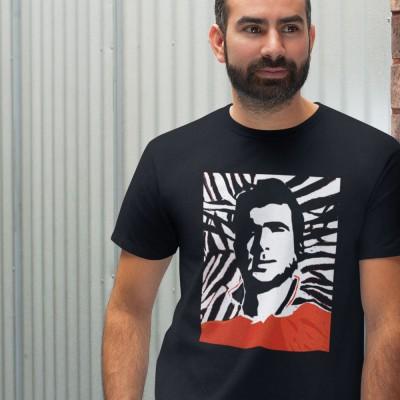 Eric Cantona Woodcut