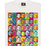 "Eric Cantona ""Andy Warhol"" (Large Print) T-Shirt"