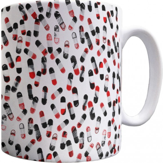 Fine Time (Red, White and Black) Pattern Mug
