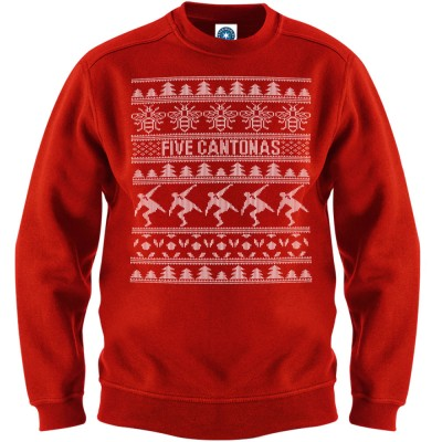 Five Cantonas Christmas Jumper