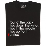 Four At The Back (Large Print) T-Shirt