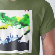 Glazers Out Flares (Green and Gold) T-Shirt