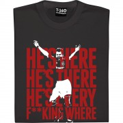 He's Here, He's There (Brian McClair) T-Shirt