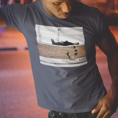 """LS Lowry """"Man Lying On A Wall (With Bar Scarf)"""" T-Shirt"""