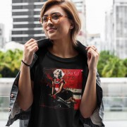 Marilyn Monroe Red, White and Black T-Shirt