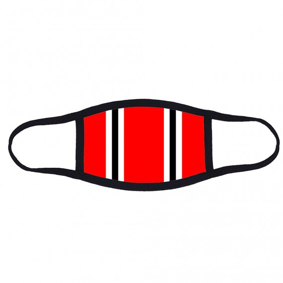 Red Bar Scarf Face Mask