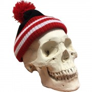 Red, White and Black Bobble Hat
