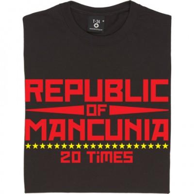 "Republic of Mancunia ""20 Times"" T-Shirt"